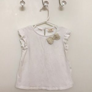Zara baby girls white tee🌟